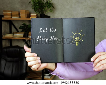 Financial concept about Let Us Help You with phrase on the sheet. Stock fotó ©