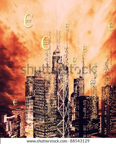 Financial crisis concept - stock photo