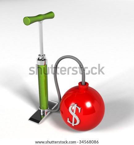 Financial Crisis - pump dollar Bomb