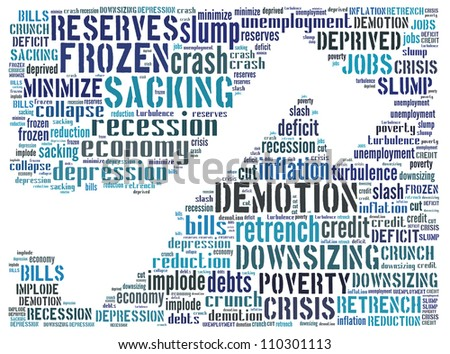 Financial crisis: text graphics