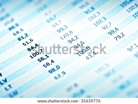 Financial data on printed medium