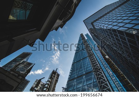 Financial district in London #199656674