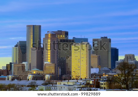 Financial District of Boston, Massachusetts
