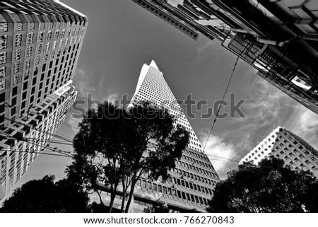Financial district, San Francisco, California, United States  #766270843