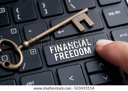 Financial Freedom, financial concept.