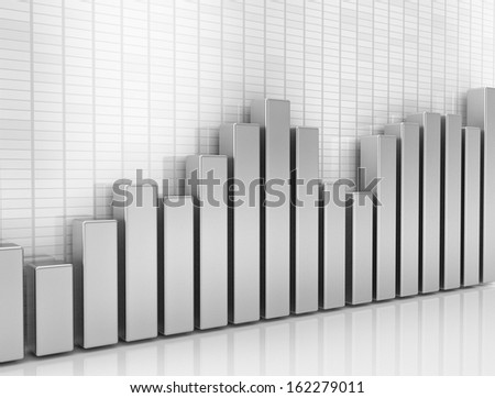Financial graph 3d illustration
