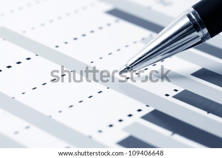 Financial graphs analysis - stock photo