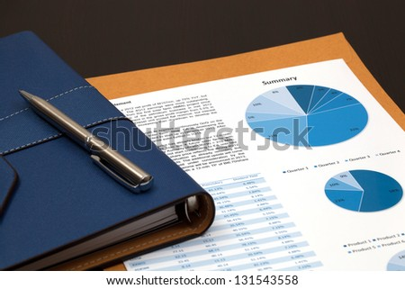 Financial graphs analysis on table