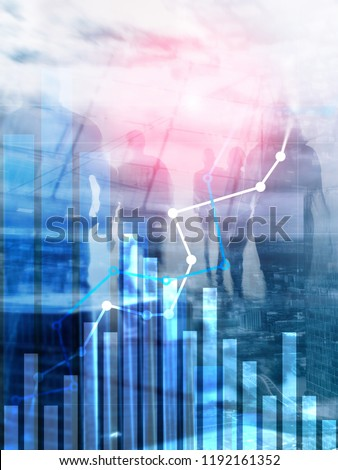 Financial growth graph.?Sales increase, marketing strategy concept. Abstract Cover Design Vertical Format.