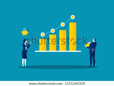 Financial investments on stock market concept.