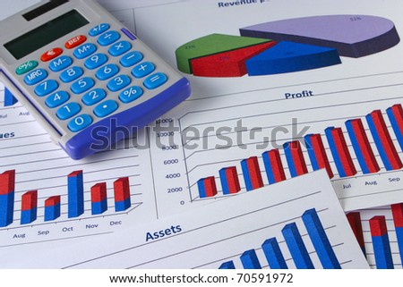 Financial management graphs with a calculator