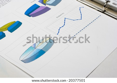 Financial report in a folder