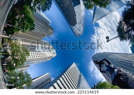 Financial skyscraper buildings in Charlotte North Carolina USA #225114619