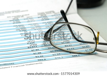 Financial statements review and analyze with tables. Business investment portfolio