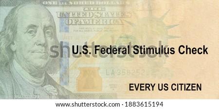 Financial stimulus bill Global pandemic Covid 19 lockdown US dollar cash banknote Photo stock ©