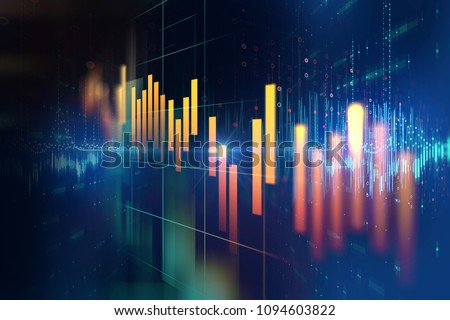 financial stock market graph illustration ,concept of business investment and stock future 