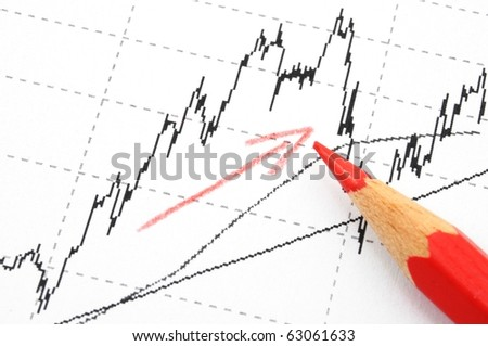 financial success concept with business chart diagram or graph showing growth