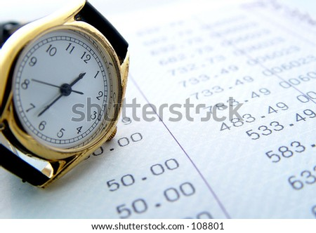 Financial times - stock photo