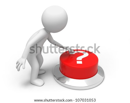 Find answers /A man is pushing the button