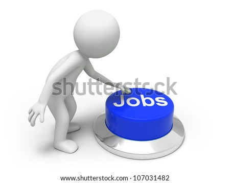 Find jobs /A man is pushing the button