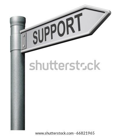 find support in help desk or online assistance support button or support icon