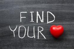 find your love phrase handwritten on the school blackboard