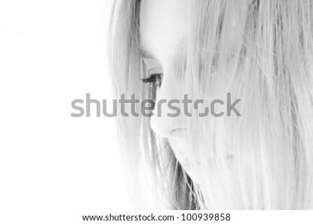 Fine and elegant black and white portrait