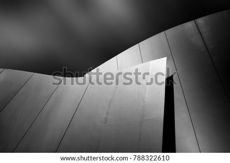 Stock Photo fine art architecture, black and white and modern picture of an building