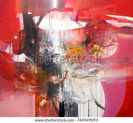 Fine art contemporary work - painting