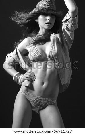 stock photo : Fine Art photo of a blonde beauty in bikini