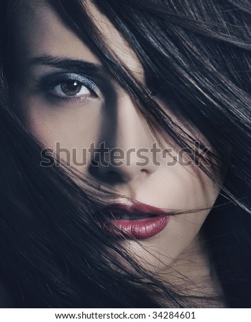 Fine art portrait of a young beautiful woman