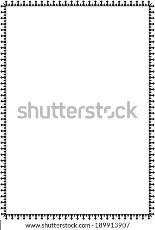 Fine border isolated on white #189913907