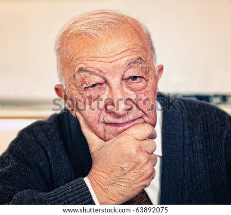 fine confident old man portrait