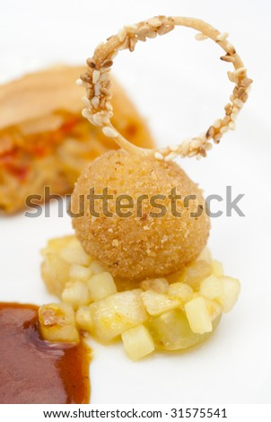 Fine Dining Dish Baked Decoration Stock Photo 31575541 : Shutterstock