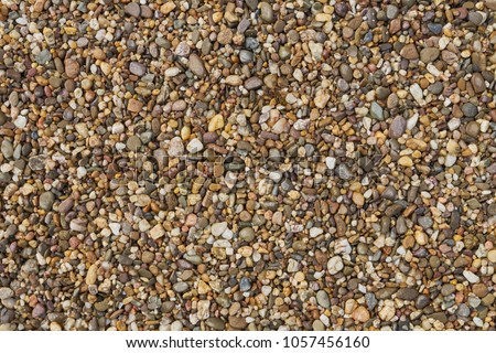 Fine gravel, natural stones