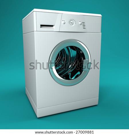 fine image 3d of classic washing machine background