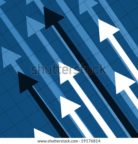 fine image 3d of rising arrow, business background