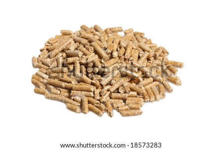 fine image of alternative biological energy, wood pellet