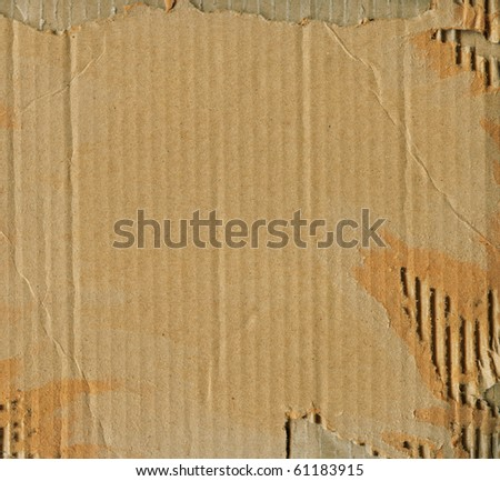 fine image of brown corrugate cardboard background