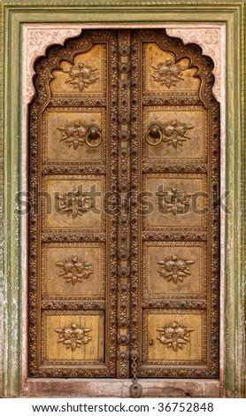 fine image of classic ancient door background