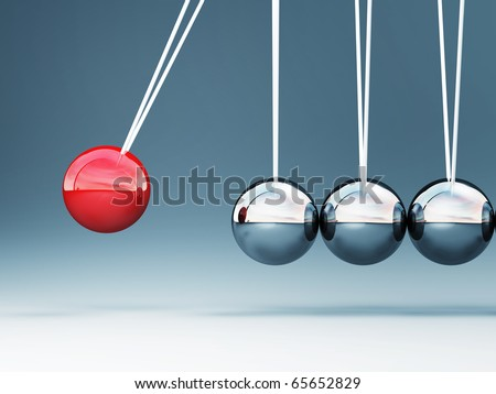 fine image of classic 3d newton cradle background