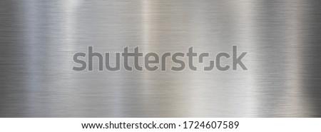 Fine metal brushed wide steel or aluminum textured background Stockfoto ©