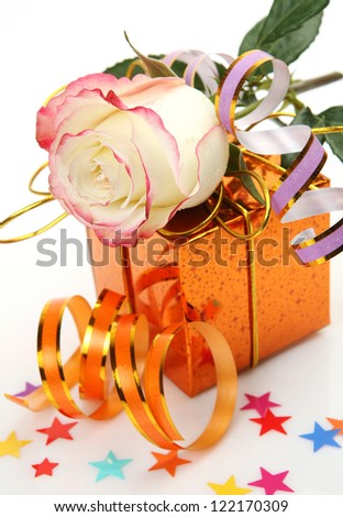 Fine rose and gift