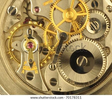 Fine Swiss precision clockwork.