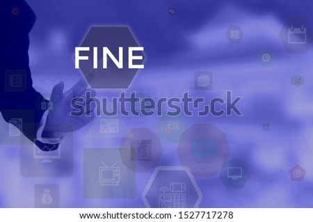 FINE - technology and business concept