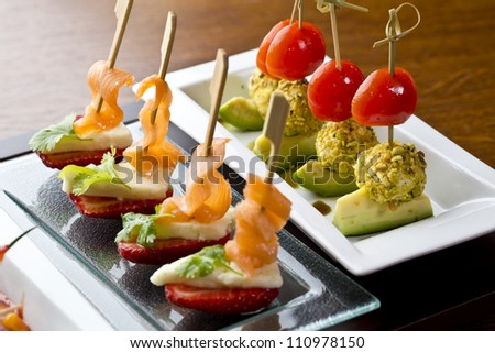 finesse side dishes / appetizer food or tapas