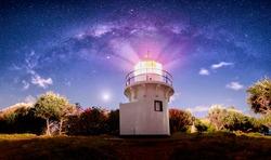 Fingal Head lighthouse Milky Way astro photography