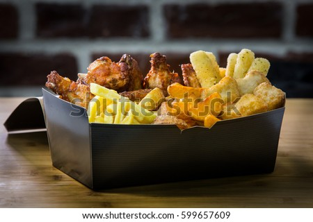finger food box mix box with...
