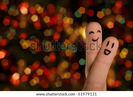 Finger hug with Abstract Lights 1