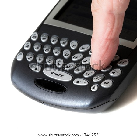 Finger on Blackberry